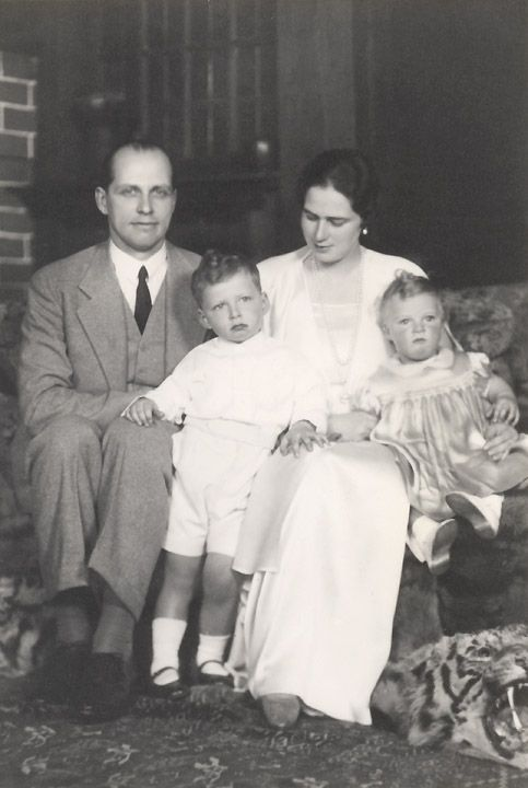 Growing family.  Ileana and Anton with their 2 eldest children, Archduke Stefan and Archduchess Maria Ileana.