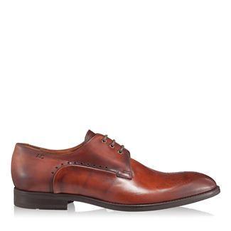 Pantofi barbati cognac 2828 piele naturala