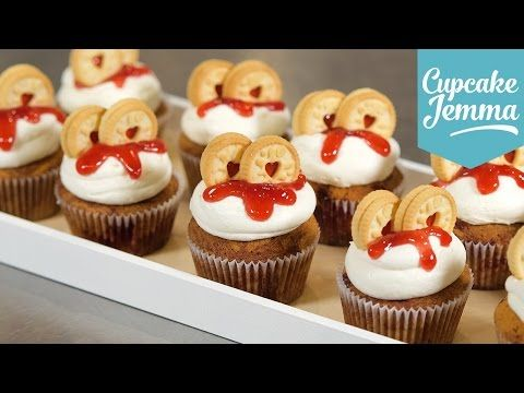 How to Make a Jammie Dodger Cupcake | Cupcake Jemma - YouTube