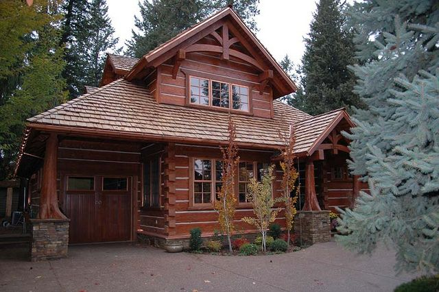 Handcrafted Dovetail Home   By Caribou Creek Log Homes   Exterior by CaribouCreekLogHomes.com