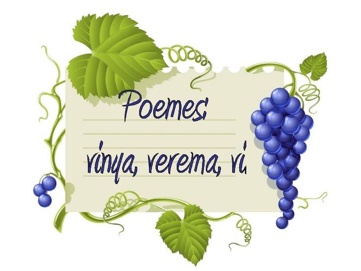 Recull de poemes il·lustrats sobre la verema, la vinya i el vi de diferents poetes catalans.