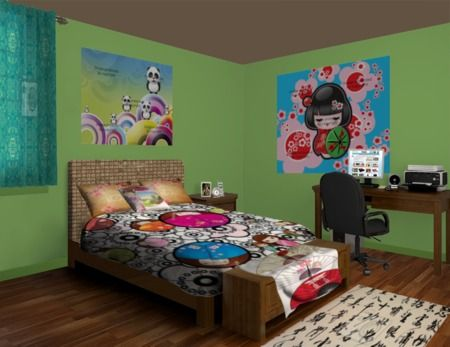 Asian Toons Kid Bedroom Design #animebedroomdecorideas #animebeddingideas  #animebeddingsets #animecomforters #animeduvetcovers #