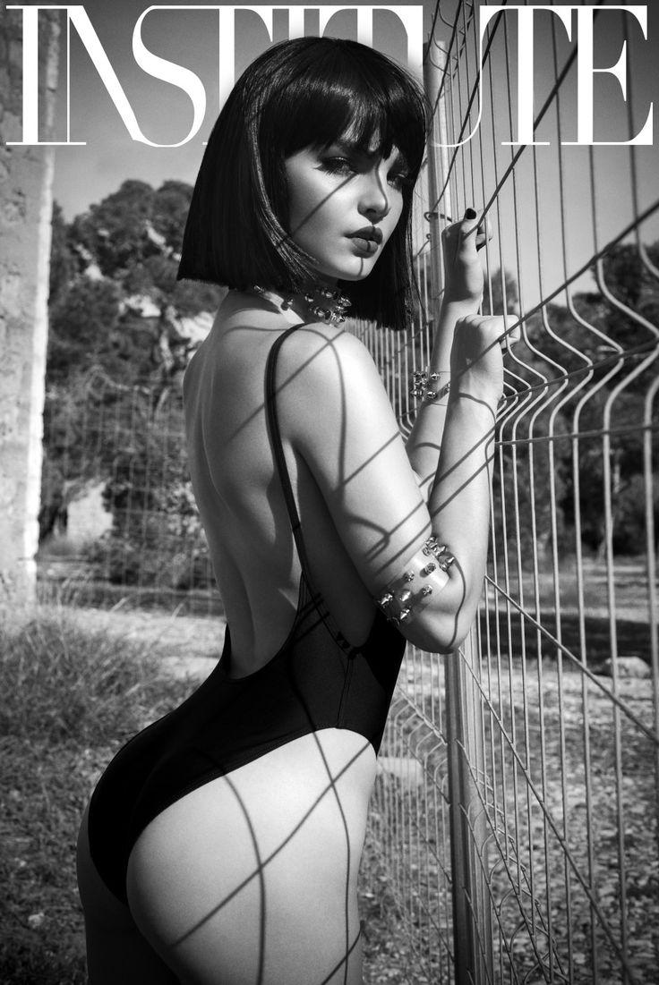 Ibiza fashion shoot black and white