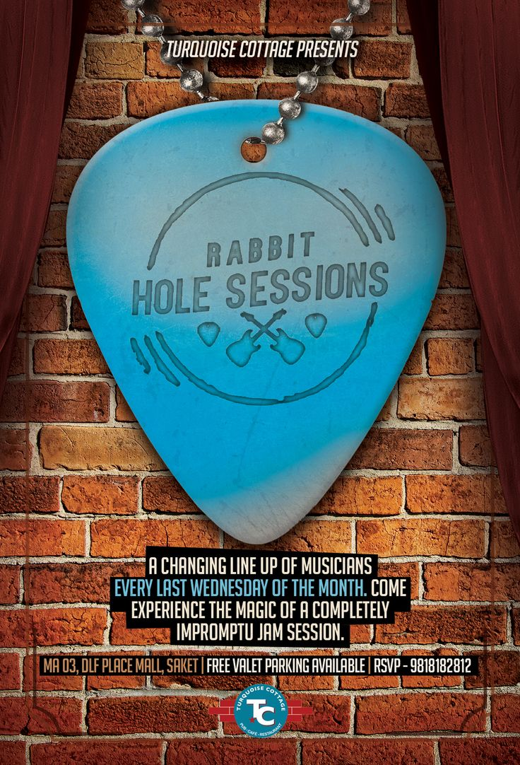 Because, ‪#‎music‬ is our passion! Book a table in advance by calling us at 9818182812. ‪#‎RabbitHoleSession‬ ‪#‎TCSaket‬
