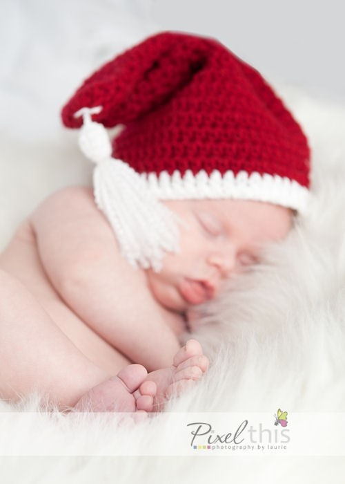 Classic Santa Hat with Tassel crochet: Crochet Christmas Baby, Sweetest Baby, Baby Things, Santa Hat