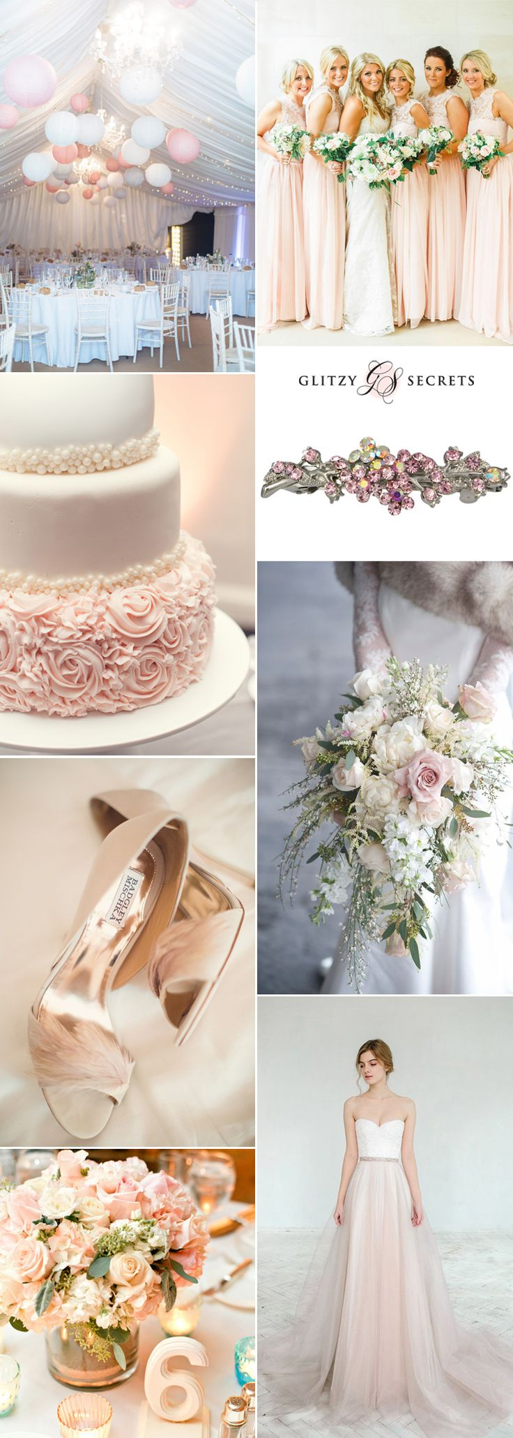 Beautifully elegant and oh so pretty, a blush and ivory wedding theme is simply divine. Ivory is a wedding staple that suits all seasons, while blush has been incredible popular in the wedding world lately, and will give you a soft pop of feminine color