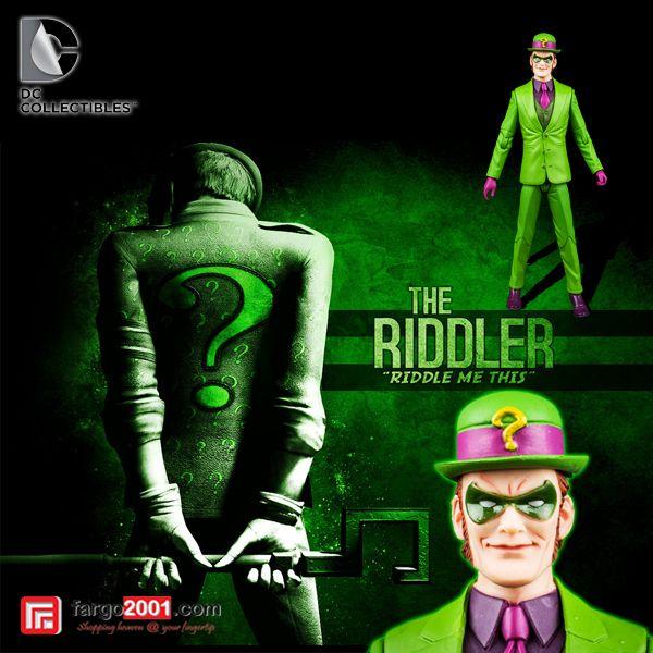 Riddle me this, Riddle me that. Who is afraid of the Big Black Bat? Dapatkan The Riddler Action Figure dari DC Collectibles hanya di fargo2001.com ! Pilihan karakter lainnya juga tersedia ! http://fargo2001.com/dc-collectibles-designer-series-riddler-1356.html?search=riddler