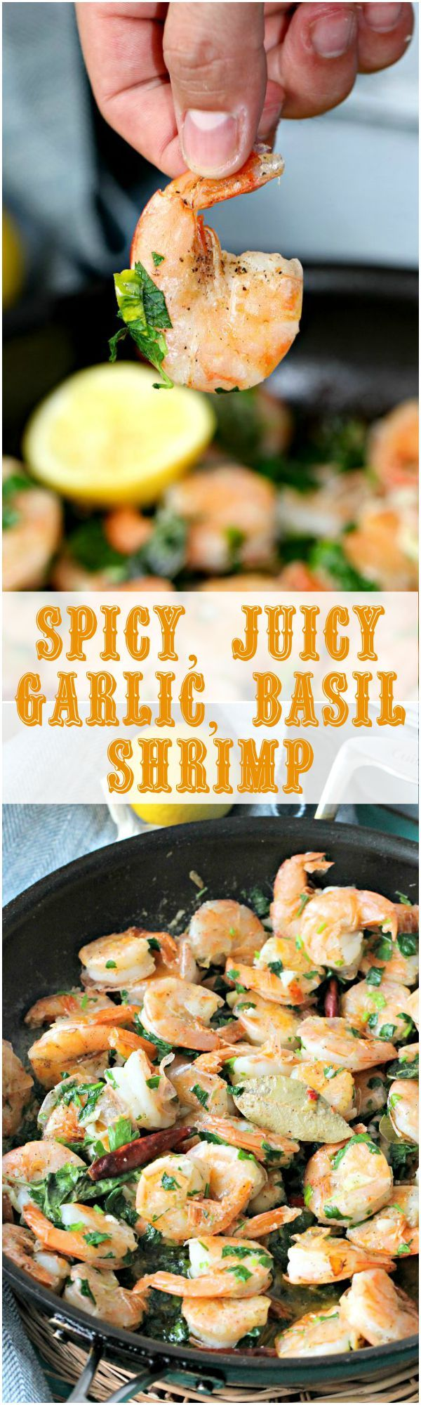 Spicy Garlic Shrimp Recipe with Lemon and Basil - Peas and Peonies