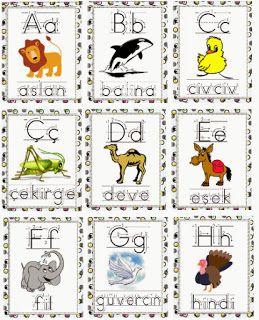 Hayvan Alfabesi - Turkish Animal Alphabet Flashcards