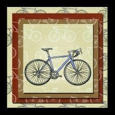 free blank bicycle greeting card kit