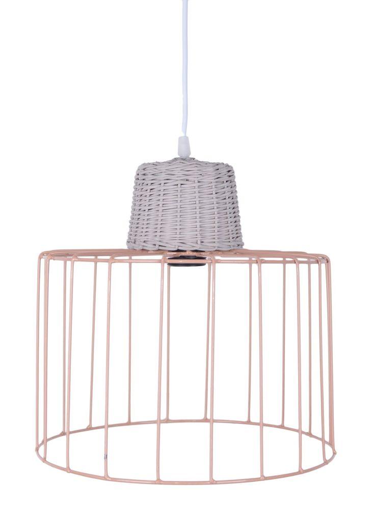 Lampa sufitowa wisząca metal + wiklina. Wyjątkowo piękna lampa doskonała do sypialni jak i do jadalni. Lampa wykonana z metalu  + wikliny. Wysokość lampy regulowana za pomocą kabla.