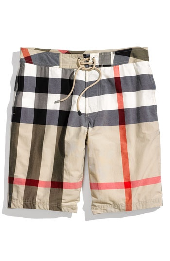 Burberry Brit Check Print Boardshorts