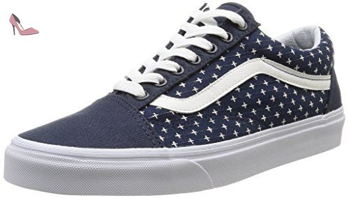 Vans U Old Skool Twill, Sneakers Basses mixte adulte, Bleu (Twill/Dress Blues/Plus), 39 EU - Chaussures vans (*Partner-Link)