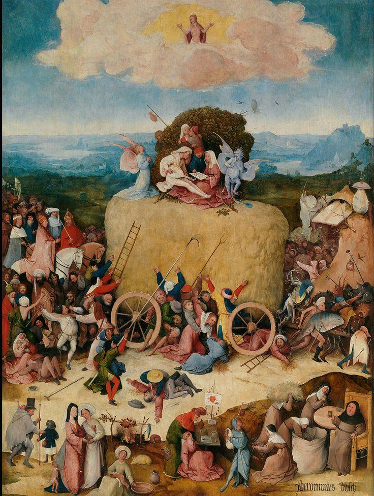 El carro de heno (The haywain) de Hieronymus Bosch. Pulsa para más información o comprar.