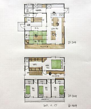 『40坪の間取り』 ・ 床の間付き和室6帖がある5LDKの間取り。 ・ 実際の設計では床の間ではなく「将来的に仏間に使えるスペースが欲しい」という要望が多いです。 ・ #間取り#間取り力 #間取り集 #間取り図 #間取り相談 #間取り図大好き #マイホーム計画#マイホーム計画三重 #マイホーム計画開始 #住まい#住まいの設計 #三重の家 #三重の住宅 #三重の間取り #三重の建築家 #三重の設計事務所 #5ldkの間取り #40坪の間取り#和室のある間取り