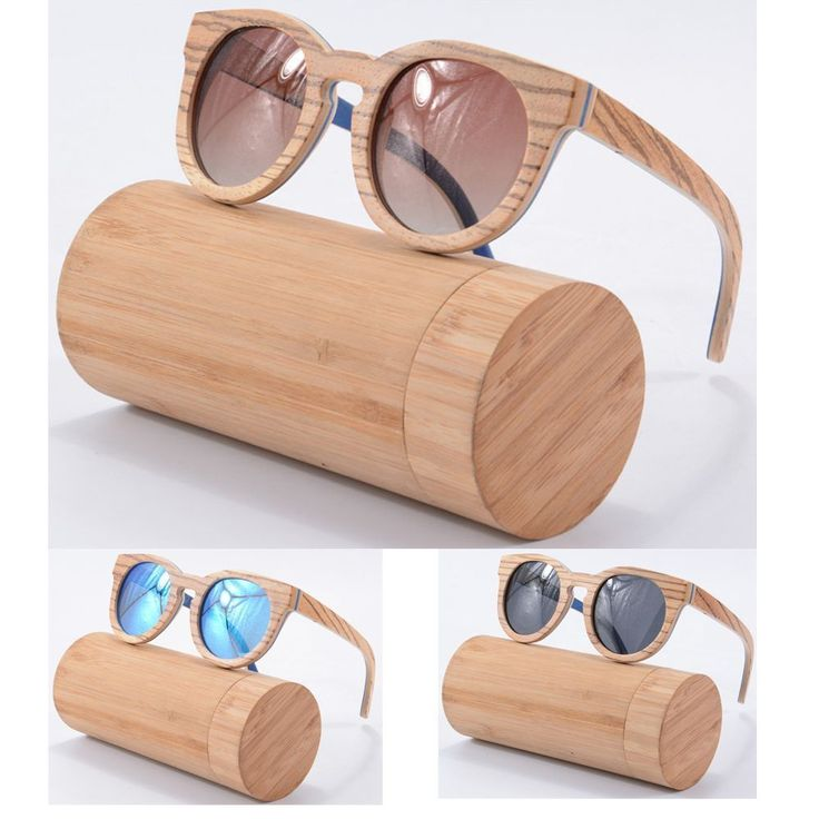 Handmade Bamboo Sunglasses Polarized Wooden Frame Glasses With Wood Case Man New