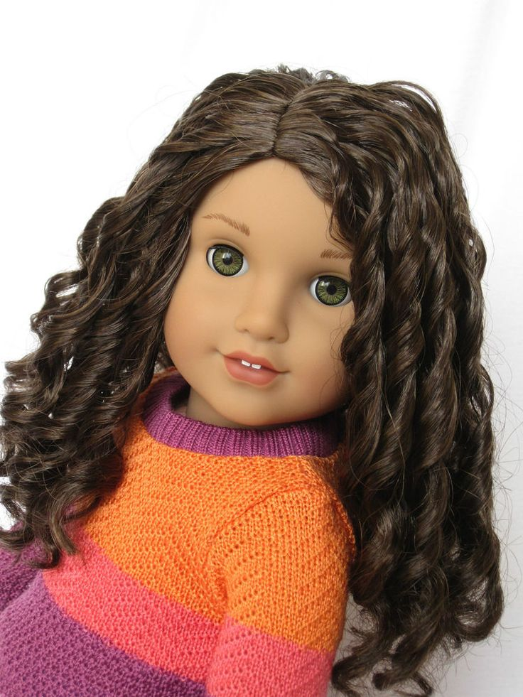 Beautiful Custom American Girl Doll Lea with TM curly wig #AmericanGirl #Dolls