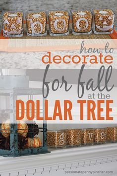 How To Decorate for Fall {at the Dollar Tree} | Passionate Penny Pincher