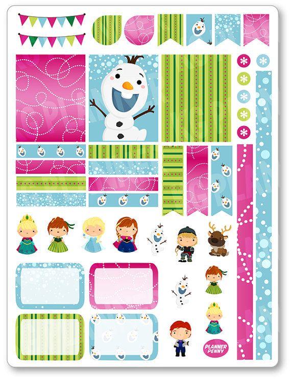 Principessa di ghiaccio decorazione Kit / di PlannerPenny su Etsy