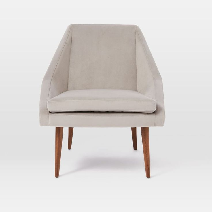 Parker Slipper Chair - Dove Grey