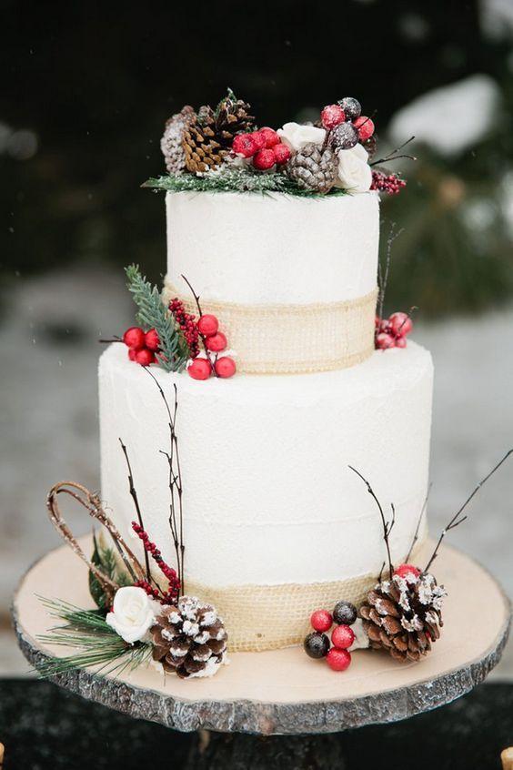 25 Cute Christmas Wedding Cakes Ideas On Pinterest