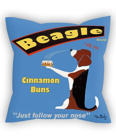 Look what I found on #zulily! Blue Beagle 'Cinnamon Buns' Throw Pillow #zulilyfinds