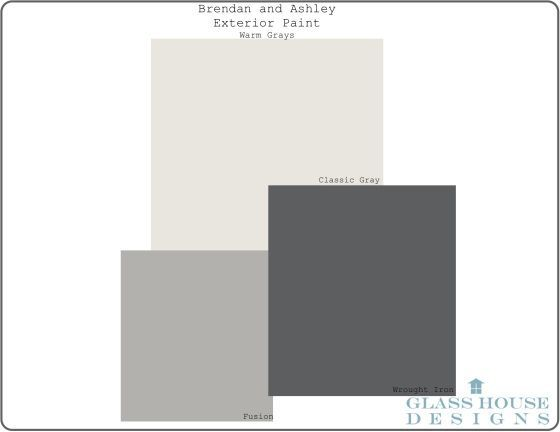 Benjamin Moore Exterior Paint- Warm Grays - Fusion, Wrought Iron and Classic…