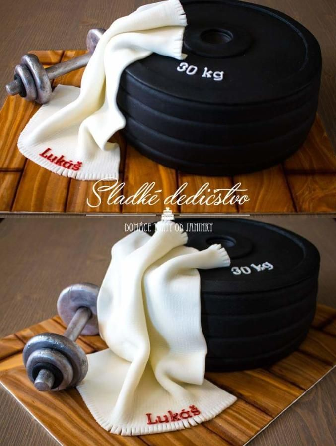 Barbells cake - Cake by Jana - Tap the pin if you love super heroes too! Cause guess what? you will LOVE these super hero fitness shirts!