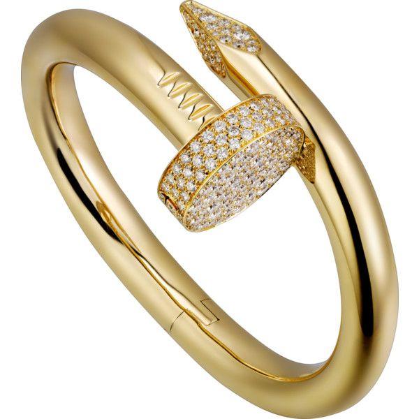 Juste un Clou bracelet Yellow gold, diamonds (114 494 040 LBP) ❤ liked on Polyvore featuring jewelry, bracelets, gold diamond bangle, diamond jewelry, diamond bangles, 18 karat gold bangles and 18k gold jewelry