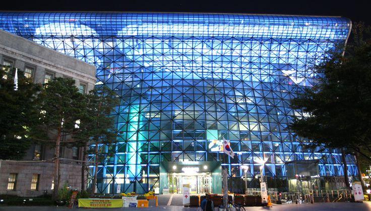 City hall in Seoul, South Korea.  Photograph: Xinhua /Landov / Barcroft Media