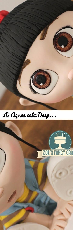 3D Agnes cake Despicable Me cakes Minions... Tags: despicable me, minions, agnes, agnes cakes, minions cake, minion cake, despicable me cake, despicable me 3, 3d cakes, amazing cakes, edith, gru, cute cakes, birthday cakes, despicable me birthday cakes, cake decorating, Balthazar Bratt, universal pictures, Illumination Entertainment, fondant, margo, margo