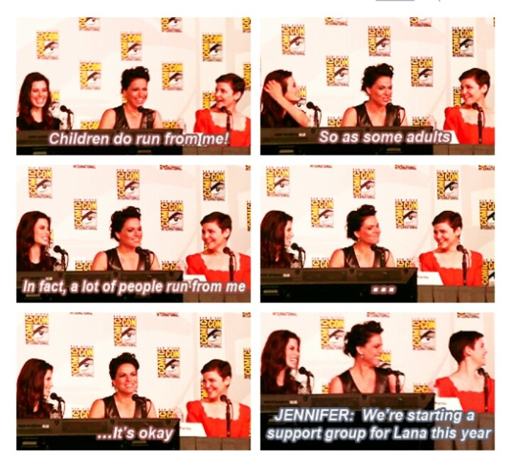 Bahaha....  Lana - Children do run from me! So as some adults. In fact, a lot of people run from me... it's okay.  Jennifer - We're starting a support group for Lana this year