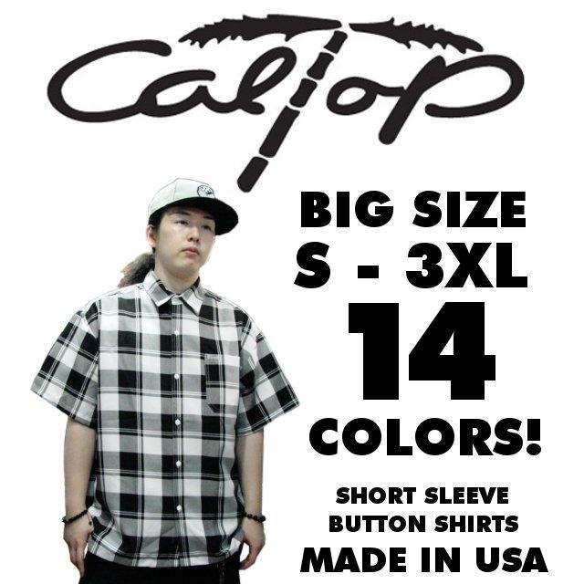 【CAL TOP】超定番 半袖チェックボタンシャツ 全8色!サイズS - 3XL 【LOW RIDER】【アメリカ】【HIP-HOP】【ヒップホップ】【チカーノ】【大きいサイズ】【ダンサー】【半そで】【カルトップ】【caltop】【メンズ】【ローライダー】【PLAID】【楽天市場】