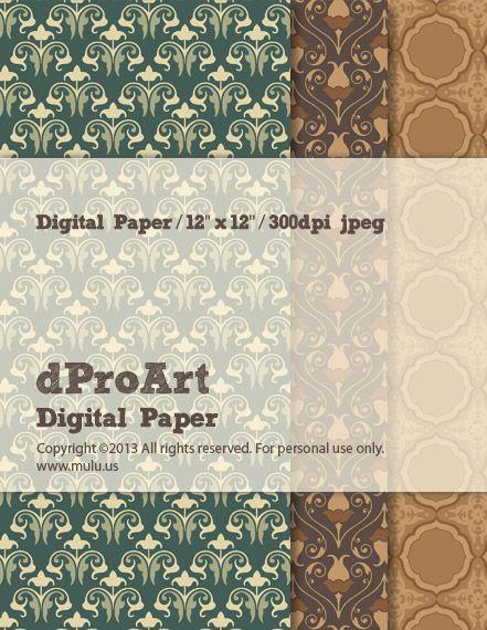 Baroque 06 Digital Paper by dProArt at mulu.us