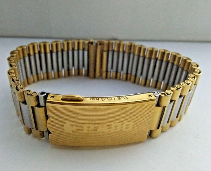 New Stainless Steel &Golden Rado Men's Wrist Watch Strap/Band Belt 18 mm 8 #Rado
