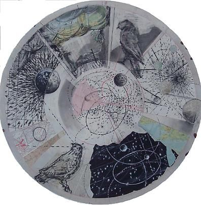 DRAWING FROM 'PREPARING THE FLUTE' (TONDO - BIRDS AND SKY), 2006 ,William…
