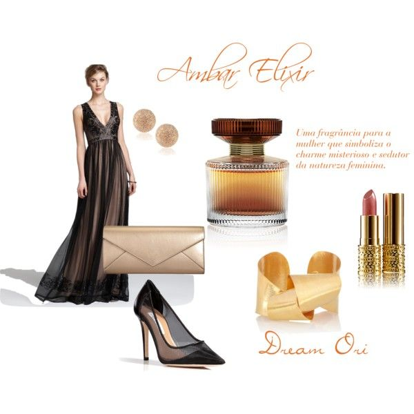 """Amber Elixir"" by dreamori on Polyvore http://pt.oriflame.com/recruits/online-registration-blog.jhtml?sponsor=16709834&theme=registrationTh"