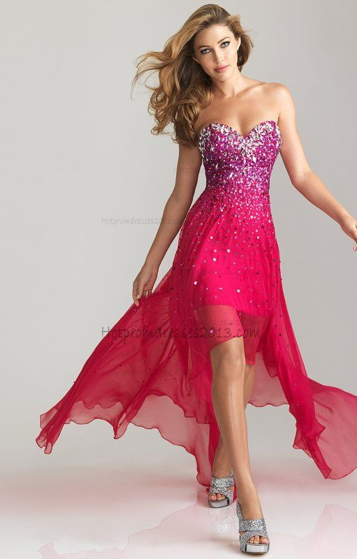 Red Strapless High Low Junior Dress for Party 2013- IN LOVE.