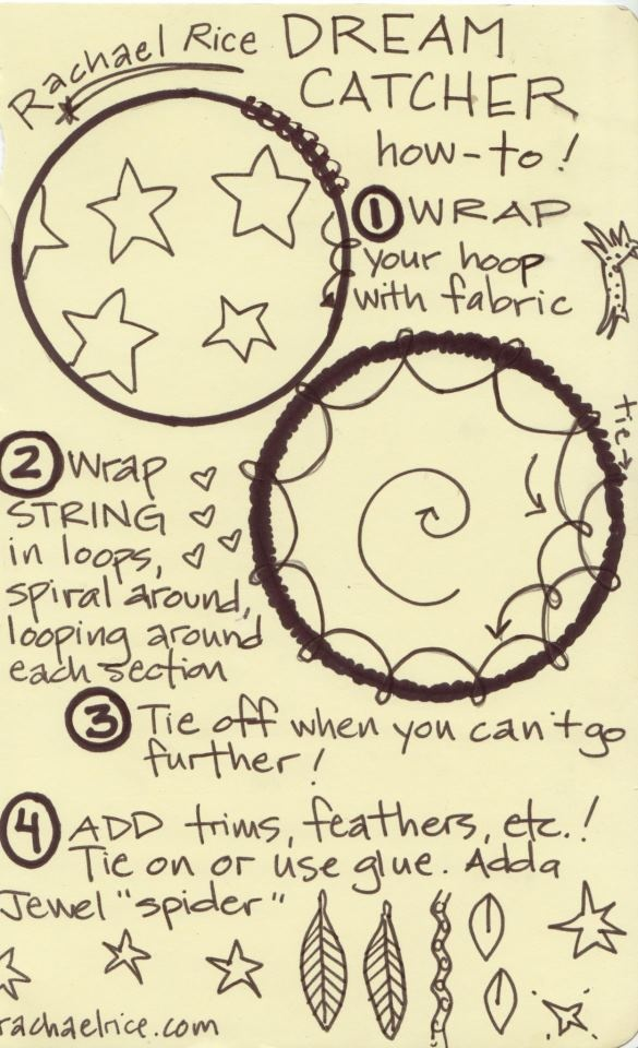 Steps for making dream catchers crafty goodness pinterest for How to make homemade dream catchers