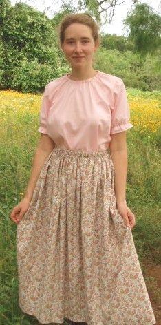Prairie skirts and peasant blouses