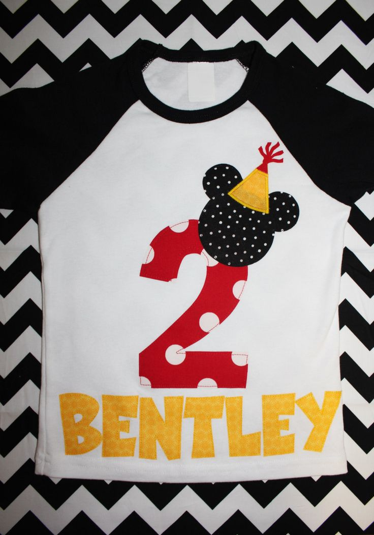 Mickey Mouse Birthday Shirt on baseball style by beyondbaskets, $22.00