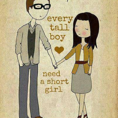 """Every short girls need a tall guy""❤️ well isn't that correct? :)"
