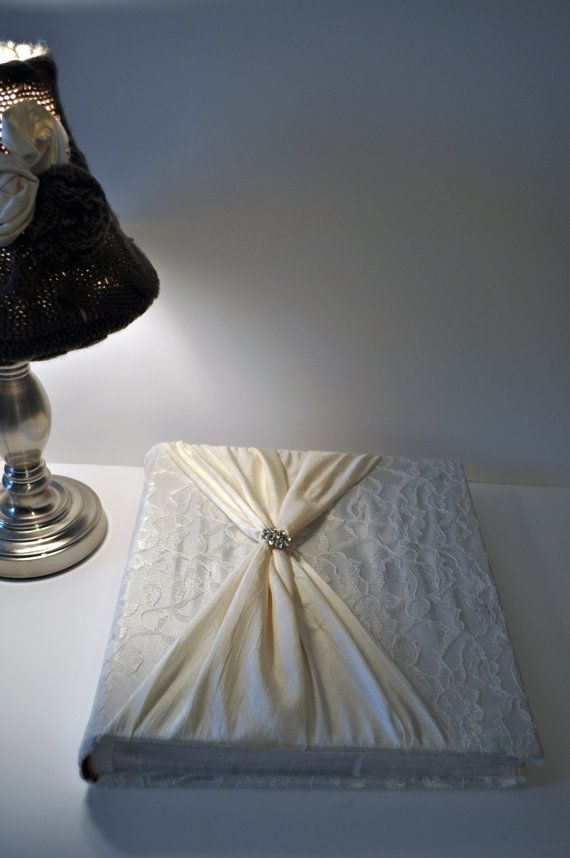 wedding album - would use the leftover material from my dress :)