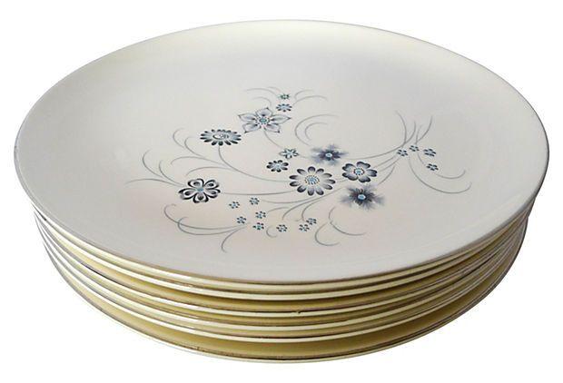Midcentury  Dinner Plates, S/6 on OneKingsLane.com