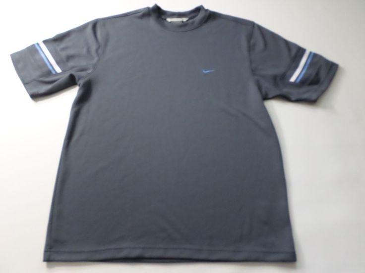 Nike Mens Football Jersey Size Large L Gray Swoosh Short Sleeve T Shirt USA Gym #Nike #GraphicTee
