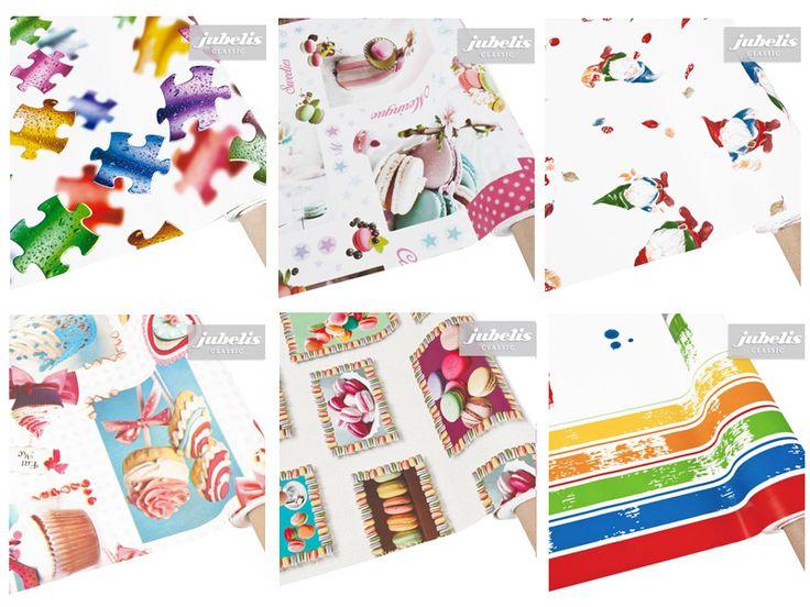 Wachstuch Oilcloth Stoffe abwaschbar Tischdecken, Meterware und Rollen Kinder und Teenager Muster für Party und Geburtstag