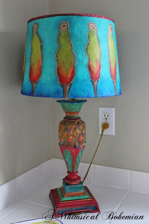 32 best lamp shades images on pinterest lamp shades lampshades ill leave the light on for you painted lamp shadesredo aloadofball Choice Image