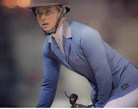 Rider Ashlee Bond wearing Grand Prix Rylie French Blue and Pikeur Breeches Fall 2015