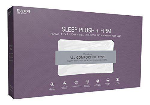 Sleep Plush Soft Density Latex Foam Pillow, Standard/Queen