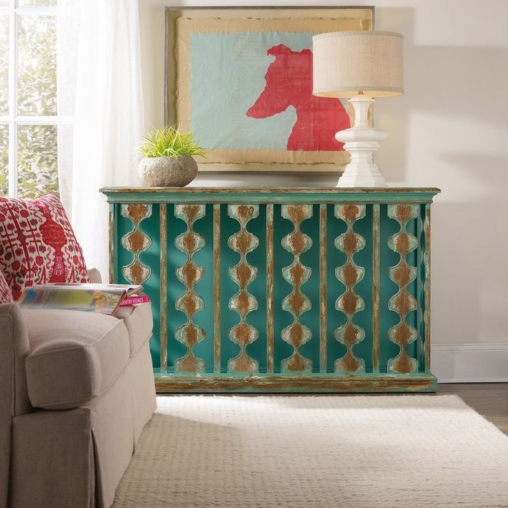 Hooker Furniture Sanctuary Teal Console Table - 5406-85001